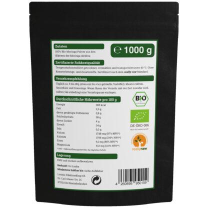 Moringa Oleifera Pulver Nährwerte 1000g